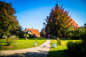 Church in the old historical monastery of Preetz in Schleswig-Holstein, Germany Wall mural