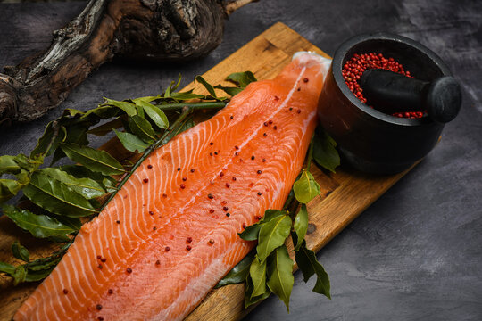 Smoked Scandinavian Salmon with red pepper
