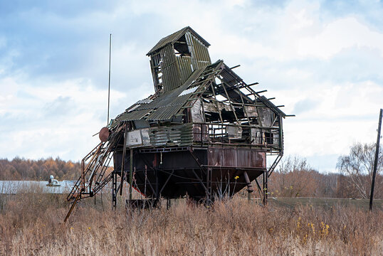 Moscow region. Abandoned agricultural drying complex