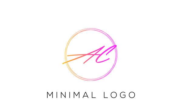AC, CA, A, C letter logo alphabet monogram icon symbol