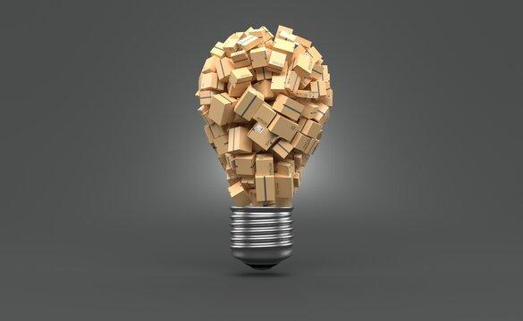 Packages in light bulb shape