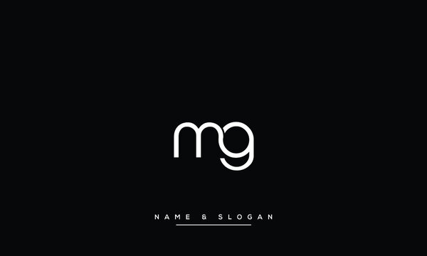 MG ,GM  Abstract Letters Logo Monogram