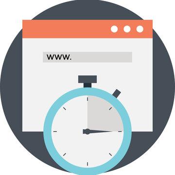 Website Uptime Flat Icon