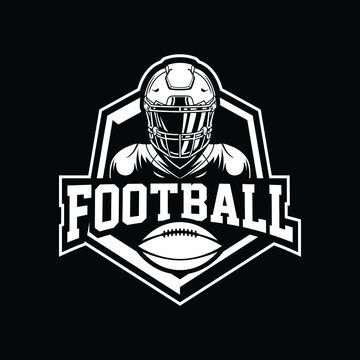 Football mascot logo design