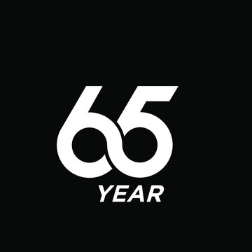 65 infinity Years Anniversary Celebration Vector Template Design Illustration