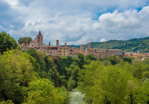 Ascoli Piceno (Italy) - The beautiful medieval and artistic city in Marche region, central Italy. Here a view of historical center.