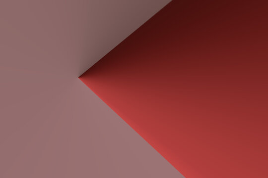 an abstract pink and red background with the red part having a sharp edge