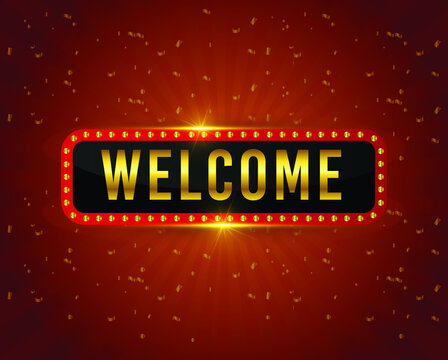 welcome vector design template.