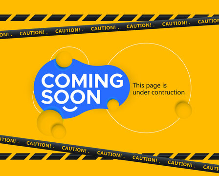 coming soon, under contruction design template.