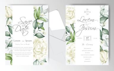 Elegant Wedding Invitation card set template Wall mural