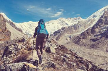 Wall Mural - Hike in Himalayas