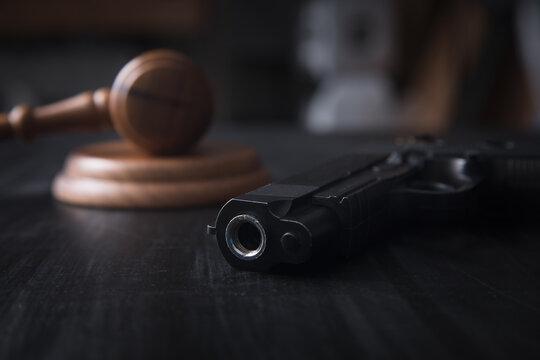 gavel and gun