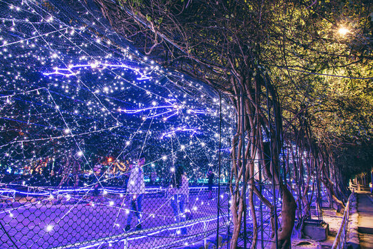 Christmas Lighting Festival in Pingtung Park, Pingtung City, Taiwan.