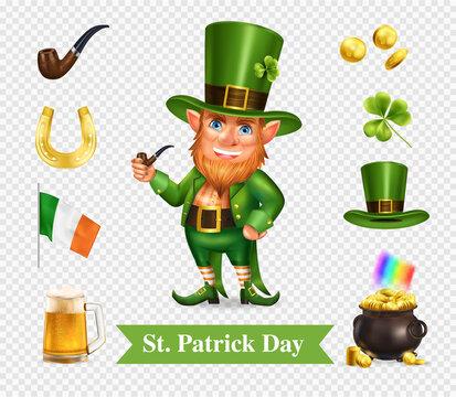 Saint Patrick Day Transparent Set