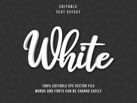 Editable White text effectwith black background