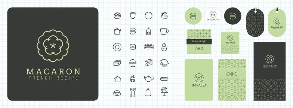 Charte graphique, identité visuelle, logo, publicité, carte de visite, pâtissier, salon de thé, desserts