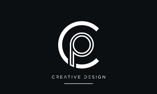 PC, CP, P or C Alphabet Initial Letters Logo Monogram Vector