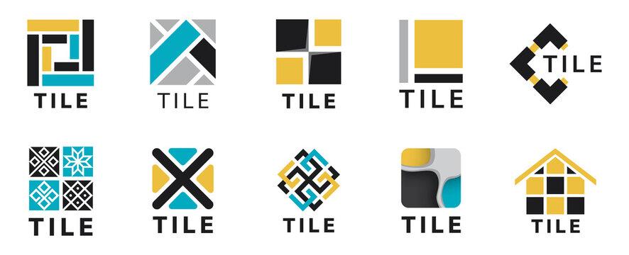 Vector logo of tiles, floors and repairs