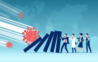 Obraz Economic impact and unemployment rise due to Coronavirus pandemic and lockdown - fototapety do salonu