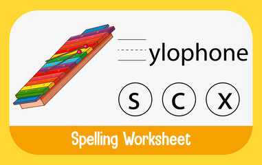 Find missing letter with xylophone