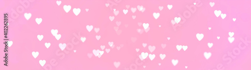 Abstract pink background with hearts - concept Mother's Day, Valentine's Day, Birthday