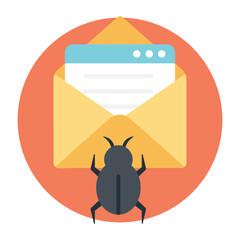 Email Virus Threat - fototapety na wymiar