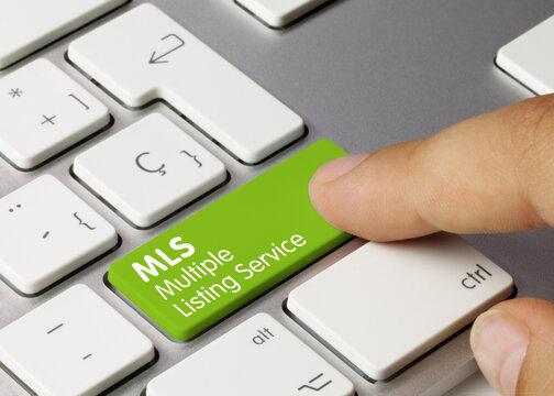 Multiple Listing Service - Inscription on Green Keyboard Key.