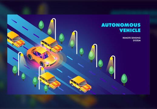 Self Driven Car Conceptual Website Landing Page