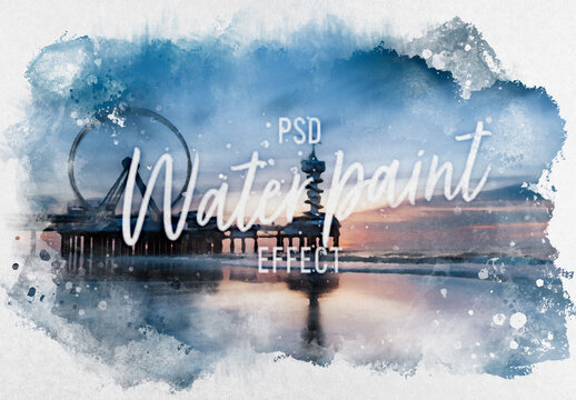 Watercolor Effect Mockup