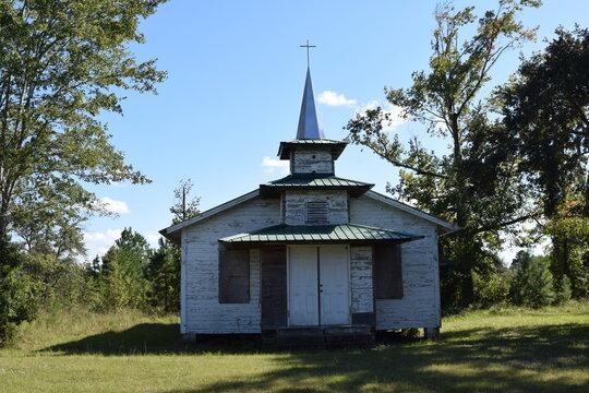 Abandoned southern baptist church