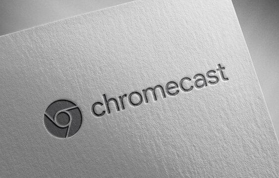 chromecast on paper texture