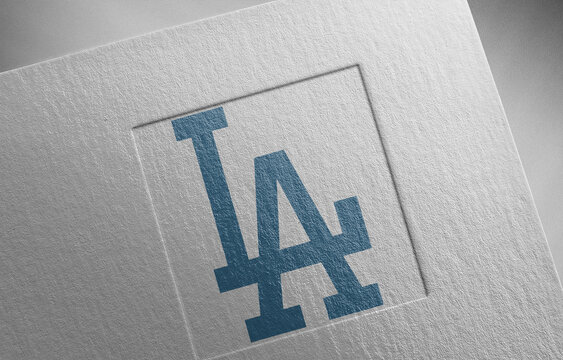 los-angeles-dodgers-3 on paper texture