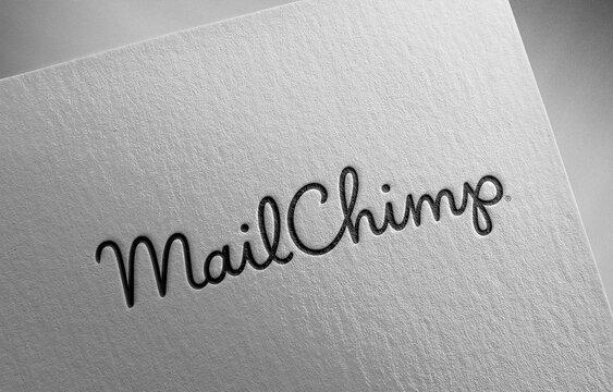 mailchimp on paper texture