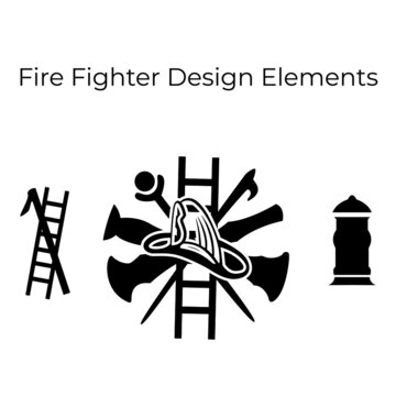 Fire department logo vector. Fire fighter badge. Eps 10