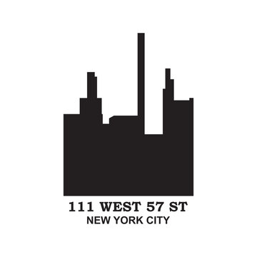 111 West 57th Street Vector , New York Logo