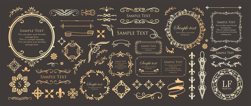 高級感のあるフレームデザイン カードデザイン アンティーク ラグジュリー ビンテージ