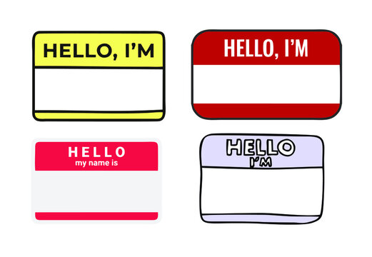 several types of name tag designs of the highest quality