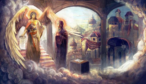 Virgin Mary and archangel Gabriel, Annunciation