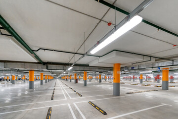 Fototapeta Large underground parking.