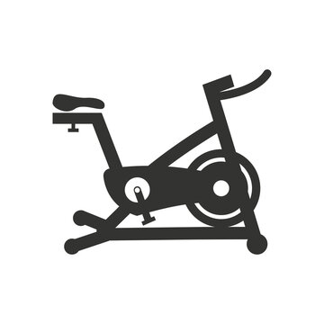 Stationary bike icon design template vector isolated illustration