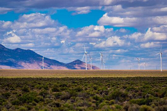 Wind turbines at Spring Valley Wind Farm