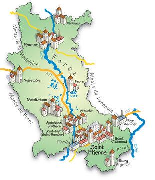 42 Carte du département de la Loire