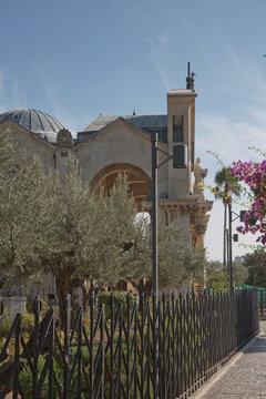 Church of All Nations in Garden Gethsemane on Mount of Olives, Jerusalem, Israel