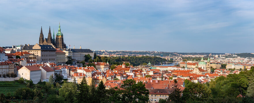 Prague Castle with view to old town