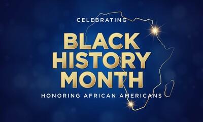 Fototapeta Black History Month Background Design. Vector Illustration. obraz