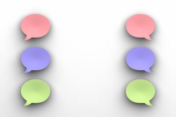 Fototapeta カラフルな吹き出しの3Dイラスト obraz