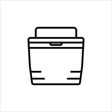 cooler icon line style vector