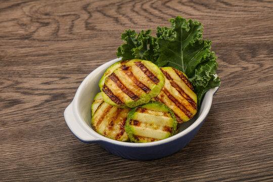 Vegan cuisine Grilled zucchini slices