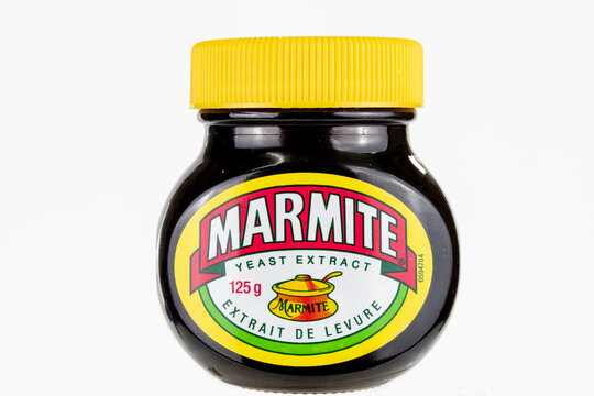 Marmite yeast extract, front view