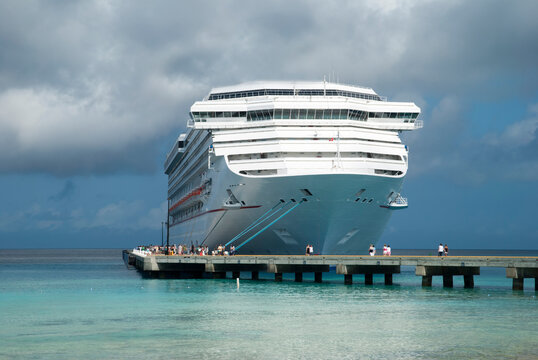 The Cruise Ship Moored in Grand Turk Island